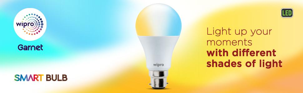 Buy Wipro Wi-Fi Enabled Smart LED Bulb B22 9-Watt - Best Smart Bulbs for Your Home