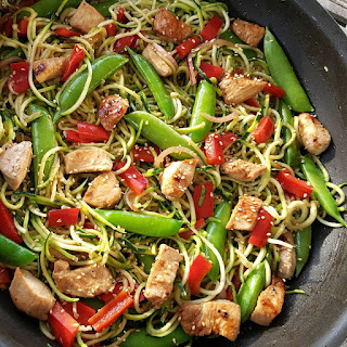 Asian Zucchini Noodle Stir-Fry.