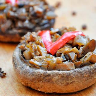Basic Stuffed Portobello Mushrooms.