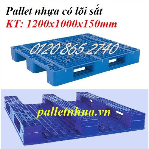 Pallet nhựa lõi sắt 1200x1000x150