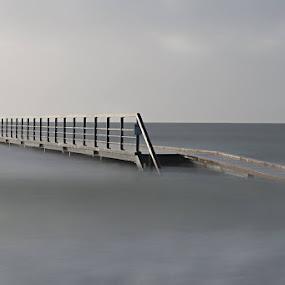 Loney bridge by Kim Borup Matzen - Landscapes Waterscapes ( water, weather, beach, bridge, denmark )