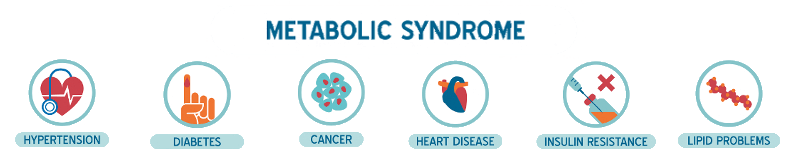 The various diseases associated with Metabolic Syndrome...
