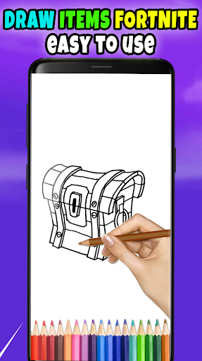 Drawing Fortnite Battle Royale 1.1 screenshots 2