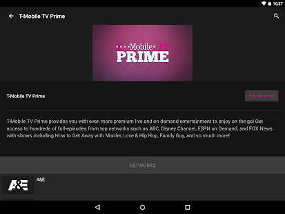 T-Mobile TV with Mobile HD- screenshot thumbnail