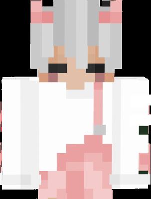 a kawaii cute pink demon boy