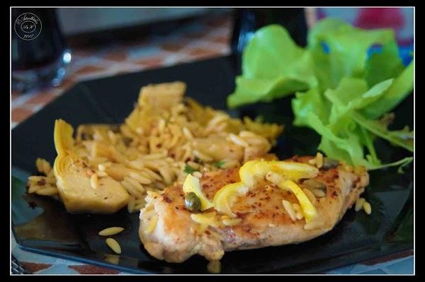 Mediterranean Artichoke Chicken With Orzo Recipe
