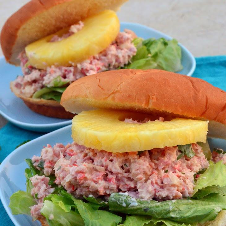 Tropical Ham Salad Sandwiches