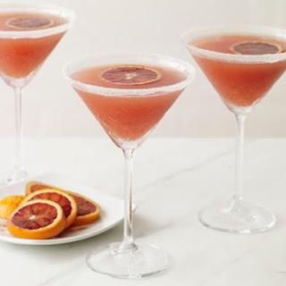 Fizzy Blood Orange Martinis.