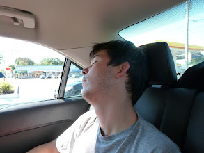 Photo: Francois is sleeping - again.