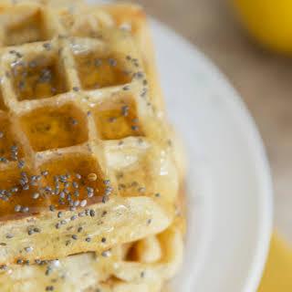 Lemon-Chia Seed Waffles.