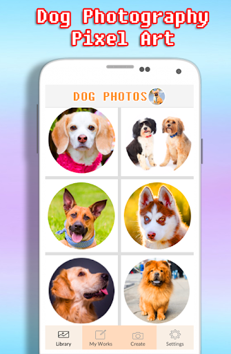 Dog Photography Coloring Book - Color By Number android2mod screenshots 1