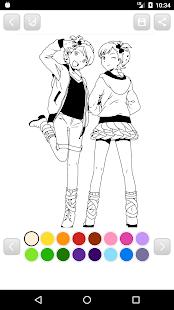 anime manga coloring book screenshot thumbnail - Anime Coloring Book