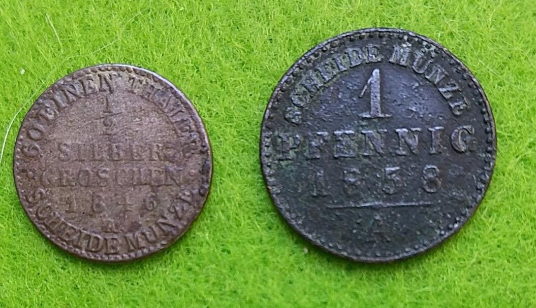 Scheidemünzen 1846, 1858