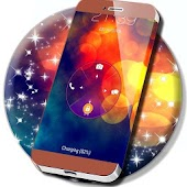 Colored Galaxy Glare Locker Theme