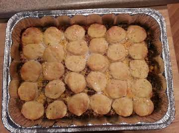 Ground Beef -N- Biscuit Casserole
