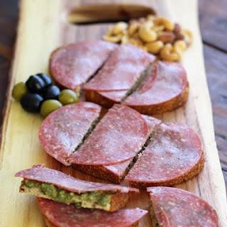 Salami Pesto Bruschetta