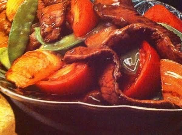 Szechuan Beef & Snow Peas