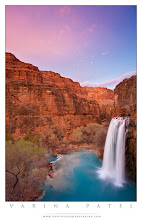 Photo: Coloring Book  Havasu Falls, Arizona  The colors are real... but doesn't it look like something out of a child's wild imagination? I guess they used just about all the prettiest crayons in the box for this one. Brilliant turquoise water. Orange sandstone cliffs. And pink clouds against such a beautiful blue sky. This shot is all about color.  I really wanted to get a shot of the falls under a brilliant sky, but I wasn't convinced we'd have any really good color. But I waited anyway. The color didn't last long, but I was in the just the right place to capture it. The canyon was in shade, so the range of light wasn't too bad. I used a circular polarizer to minimize glare off the water, and reduced the brightness of the sky just a bit in post-processing to get the exposure exactly right. Over or under exposure will make the colors feel dull and lifeless... but the correct exposure really makes the colors pop.  What do you think? Should I convert to black and white? ;)   (Just kidding, of course.)  #waterfallwednesday   #exposure   #photographytips