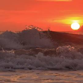 Wave at the sunrise by Nigel Street - Uncategorized All Uncategorized ( sunrises, waves, seascape )