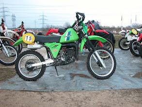 Photo: Kawasaki KDX 175 B Bj. 1983 im Parc Ferme in Pfungstadt