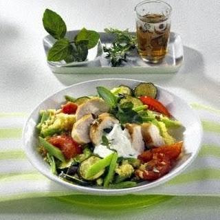 Gemüse-Couscous mit Hähnchenfilet