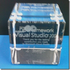 Visual Studio crystal cube
