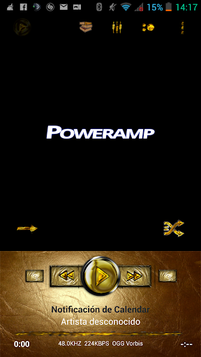 Poweramp Skin Dorado Gold