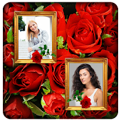 Red Rose Photo Collage Frames