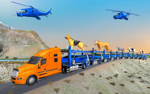 US Police Train Transporter Truck Robot Stunt Game 1.4 screenshots 13