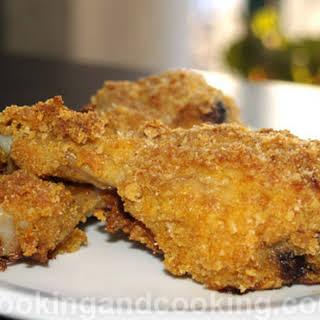 Spicy Breaded Chicken Drumsticks.