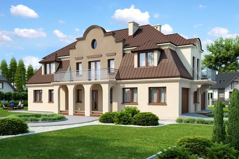 Dach mansardowy w domu jednorodzinnym