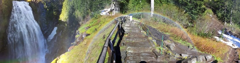 Photo: Narada Falls Rainbow