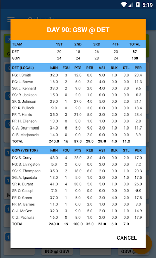 Basket Manager 2018 Free 3.4 screenshots 6