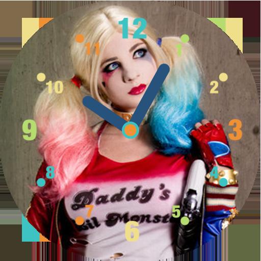 Harley Quinn Clock Widget 2017