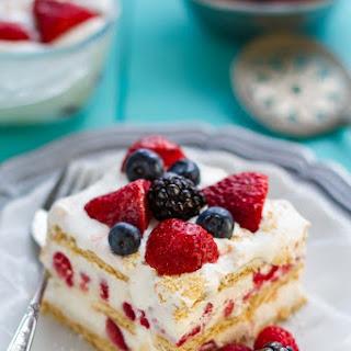 No Bake Mixed Berry Icebox Cake