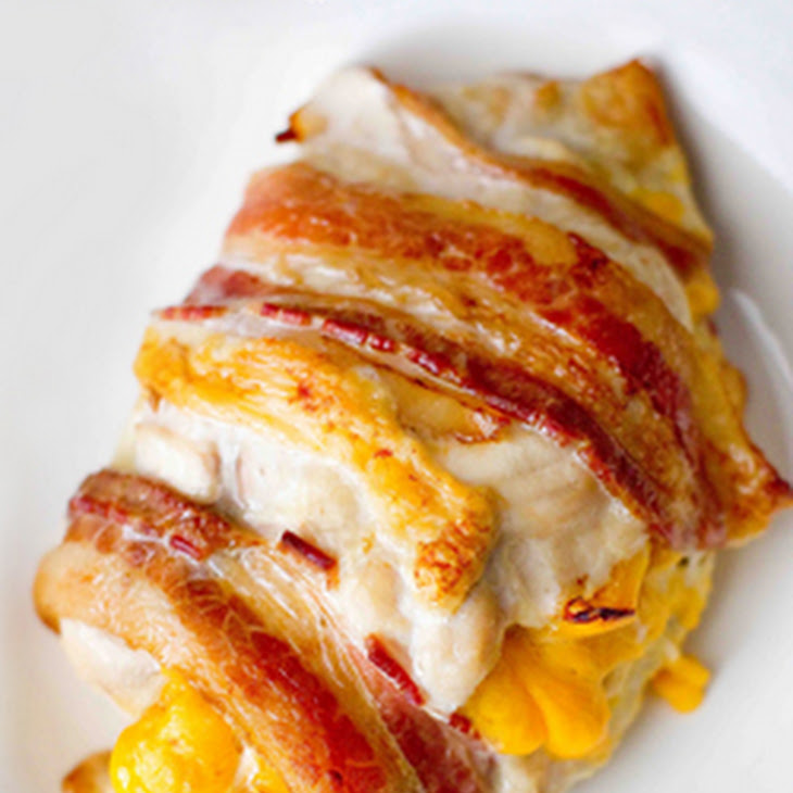 Cheddar and Pepper Stuffed Bacon Wrapped Chicken Recipe