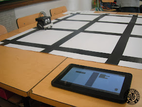 Photo: Programming the Infante Robot with tablet