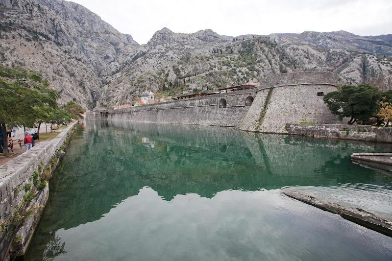 A centuries-old manmade waterway in Old Kotor, Montenegro.