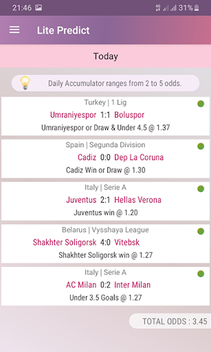 Lite Predict - Football Prediction Tips Version 4.1 Wing screenshots 5