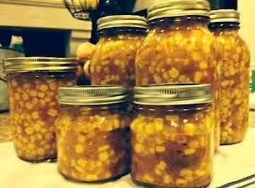 Hot and Sweet Corn Relish