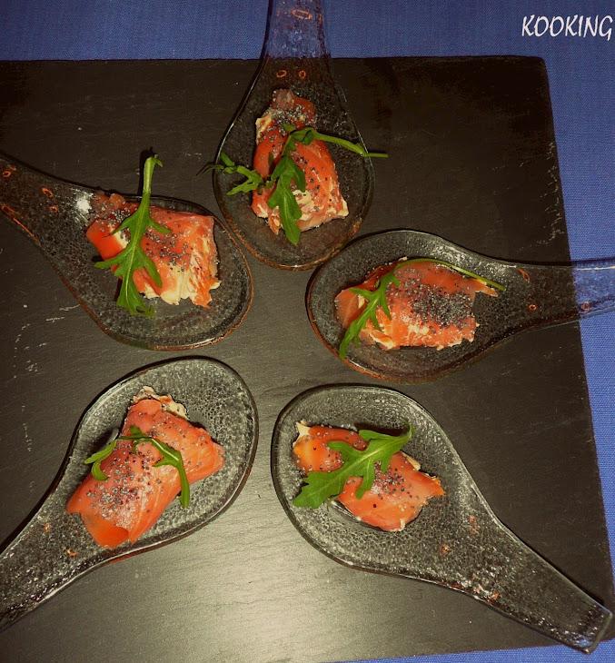 Salmon Rolls with Cream Cheese a La  Pedro Ximenez Sherry Recipe