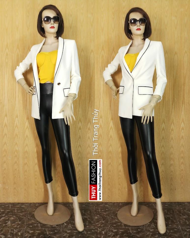 Áo blazer nữ thắt đai eo quần legging V662 Thời Trang Thủy