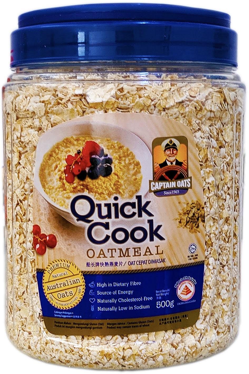yến mạch úc nguyên chất Captain quick cook 500g Yến mạch Úc nguyên chất Captain Quick Cook 500 g