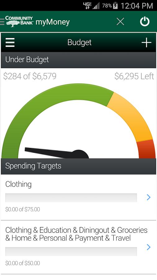 Community Bank's CellTeller- screenshot