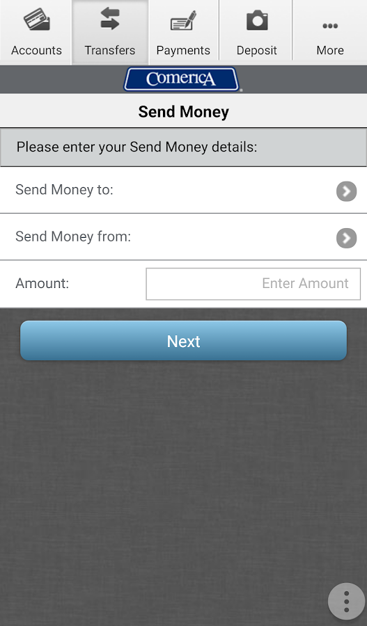 Comerica Mobile Banking®- screenshot