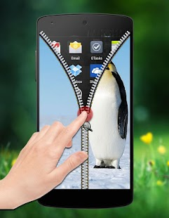 Penguin Zipper Lock screenshot