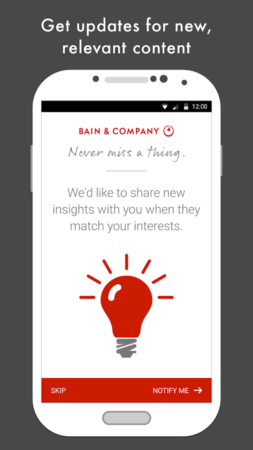 Bain Insights- screenshot
