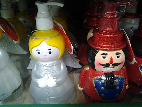 Photo: On the way to finish up my shopping I walked by these beautiful soap dispensers!