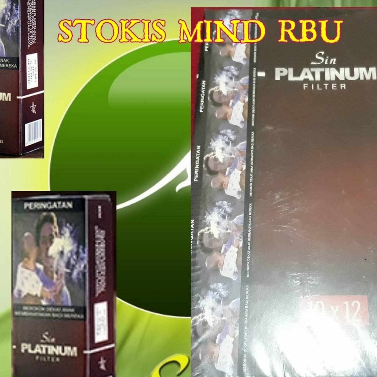 Agen Stokis Mind Rbu Rokok Sin Herbal Pemasaran Platinum Filter Isi 1 S