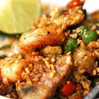 Black Bean Garlic Shrimp Scramble
